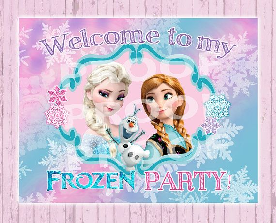 Frozen Birthday 8x10 Digital Copy  Print by PoshPaisleyBoutique, $4.99