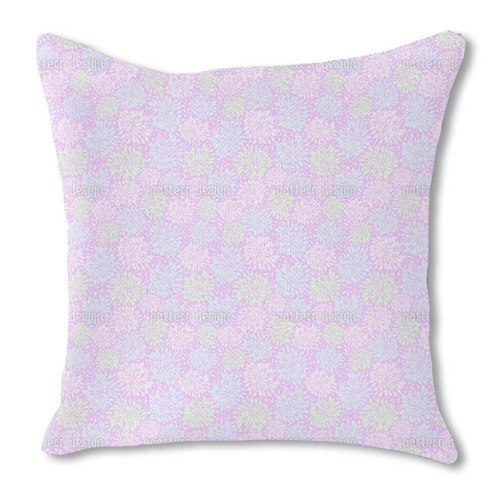 Uneekee Chrysanthemum Firework Burlap Pillow Double Sided (16x16, Double Sided), Multi, Size 16 x 16 (Polyester, Floral)