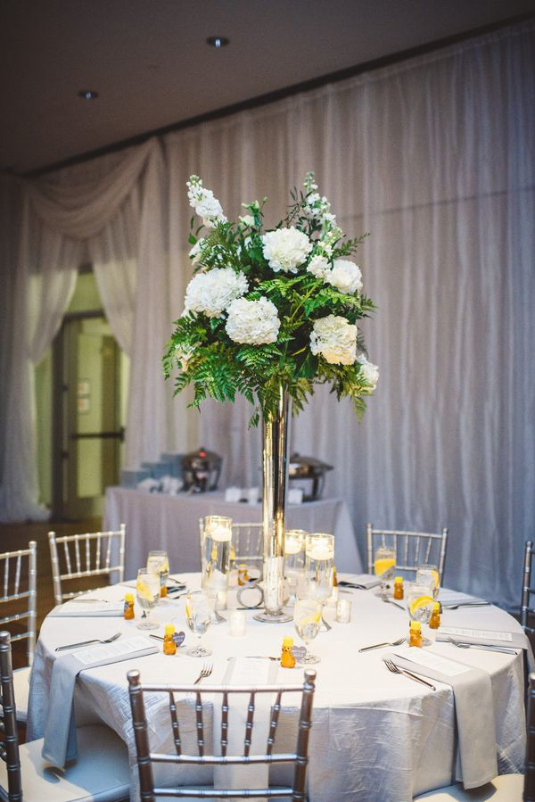 Elegant Green White Centerpieces For Your Reception Are Perfect