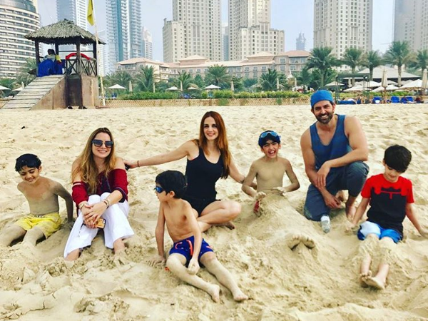 PIC: Hrithik Roshan, Sussanne Khan and their kids are the happy souls in Dubai