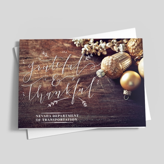 Assuredly Grateful Holiday design card, Holiday cards