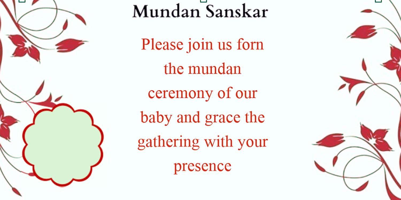 Mundan Ceremony Invitation Quotes Card Design And Wordings Card Design Free Invitation Cards Invitation Card Design