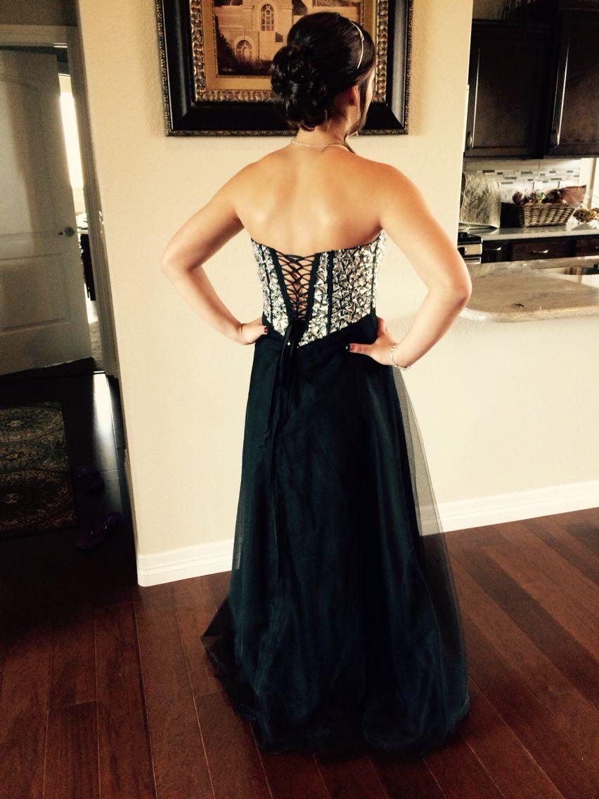 Back view strapless dress formal dresses fashion