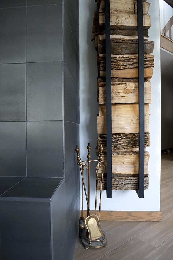 Modern Casual Living And Dining Room One Room Challenge Reveal Brepurposed Indoor Firewood Rack Firewood Holder Firewood Storage