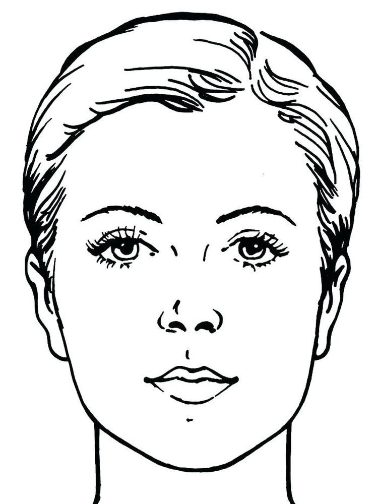 Face Coloring Page Preschool In 2020 Makeup Face Charts