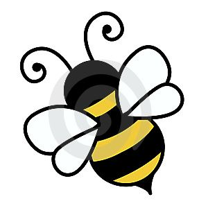 free cute bee clip art an illustration of a cute bee free stock rh pinterest com bee clip art for teachers bees clip art free