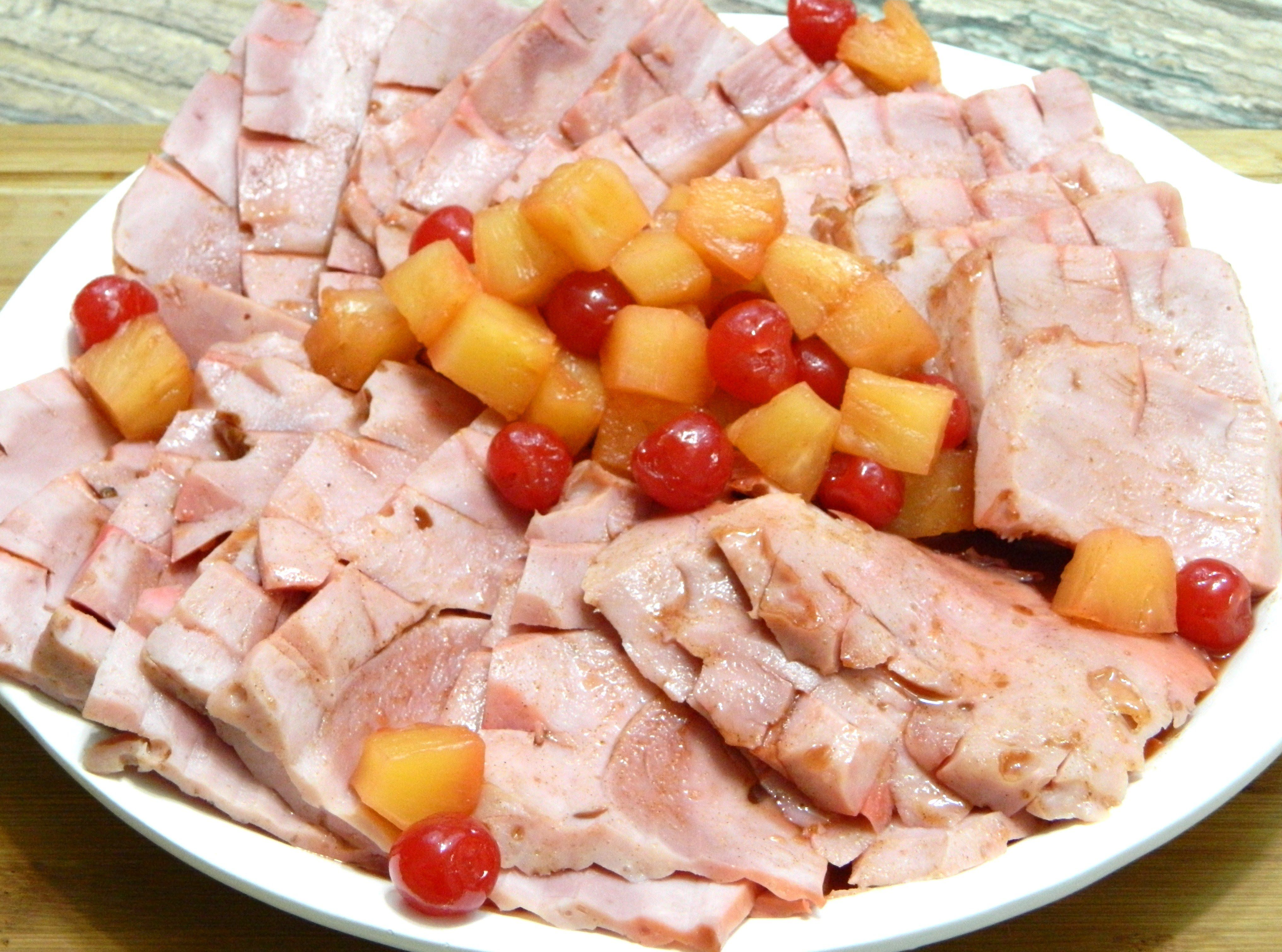 Puerto rican style jamon con pia or baked ham with pineapple puerto rican style jamon con pia or baked ham with pineapple forumfinder Image collections