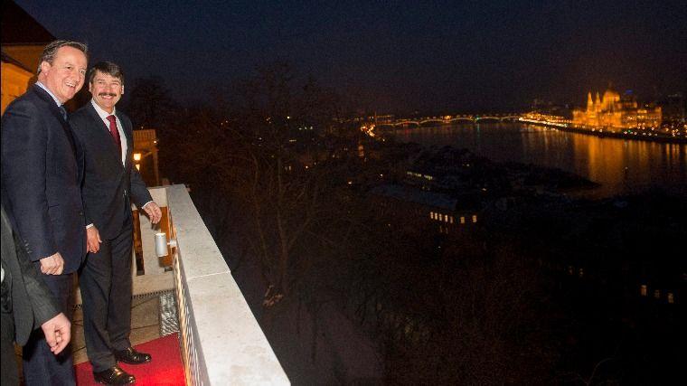 Cameron Budapesten - Áder János fogadta a brit kormányfőt