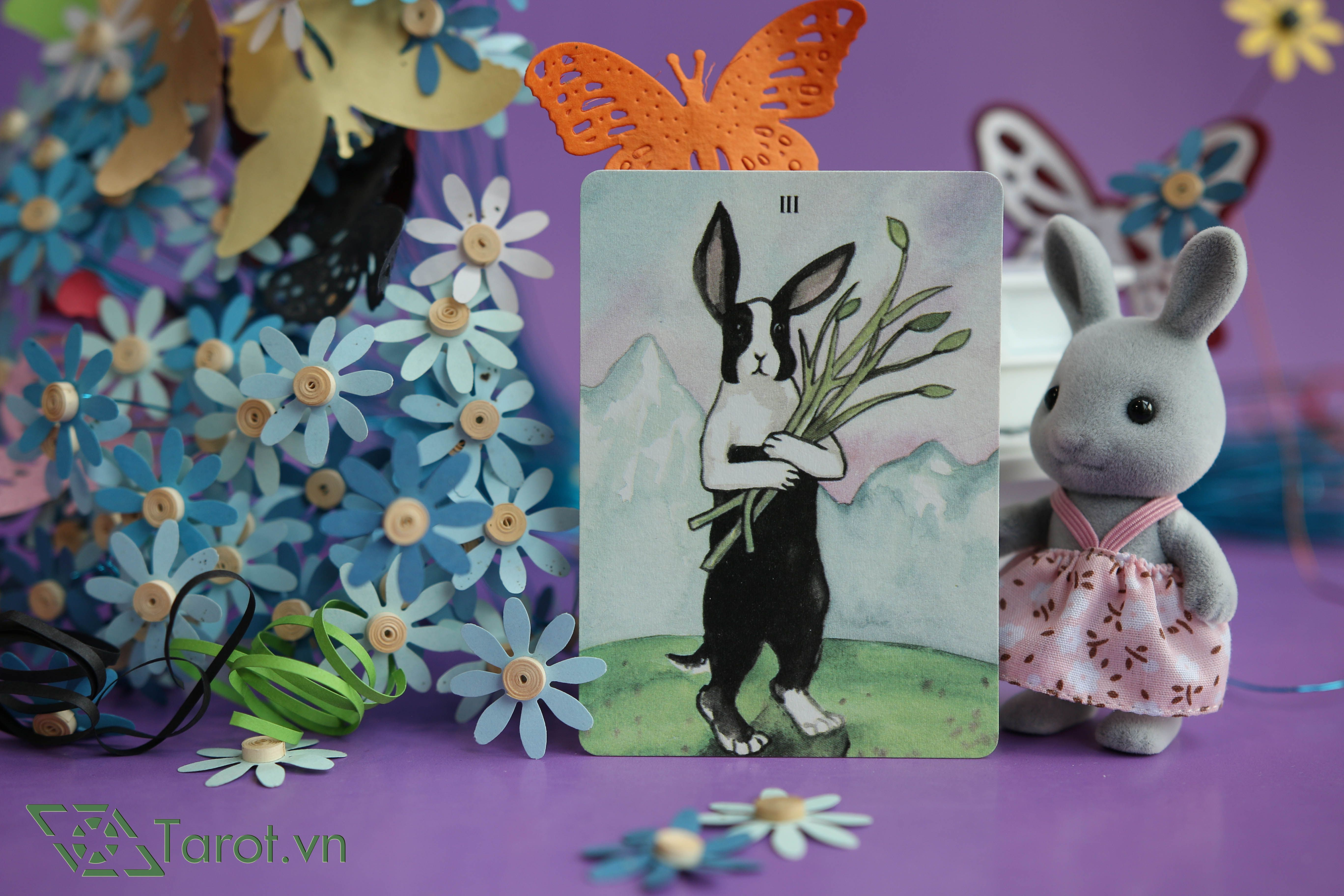 Three of Wands - The Rabbit Tarot