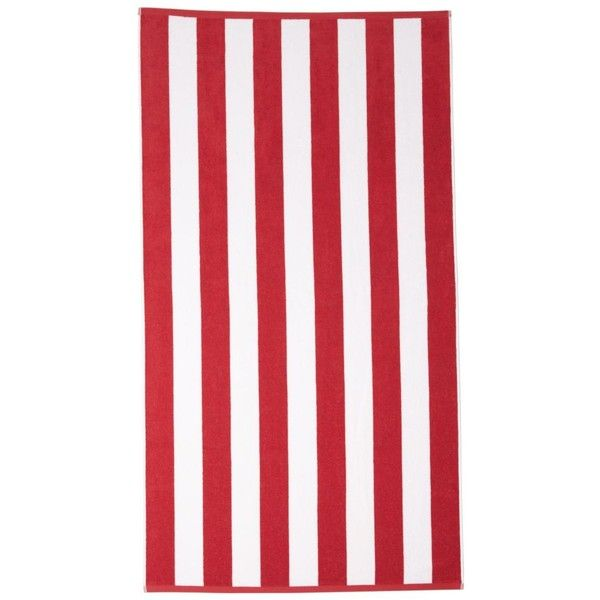 Kassatex Cabana Stripe Beach Towel (82 CAD) ❤ liked on Polyvore featuring home, bed & bath, bath, beach towels, red, cabana stripe beach towels, kassatex beach towels, red beach towel and kassatex