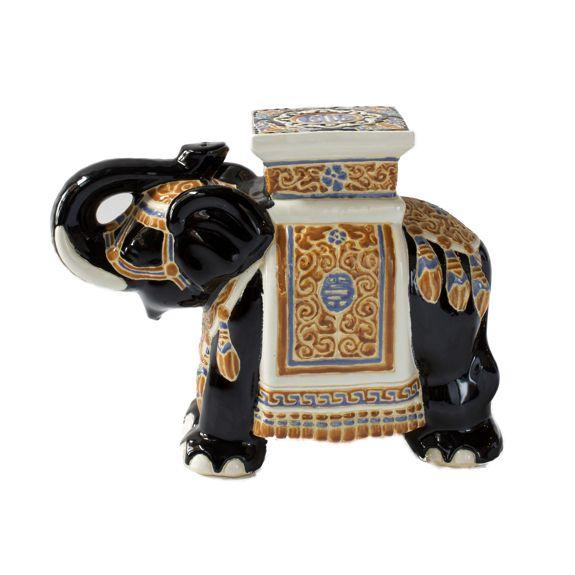 Exceptional Ceramic Elephant Garden Stool   H U0026 H Home