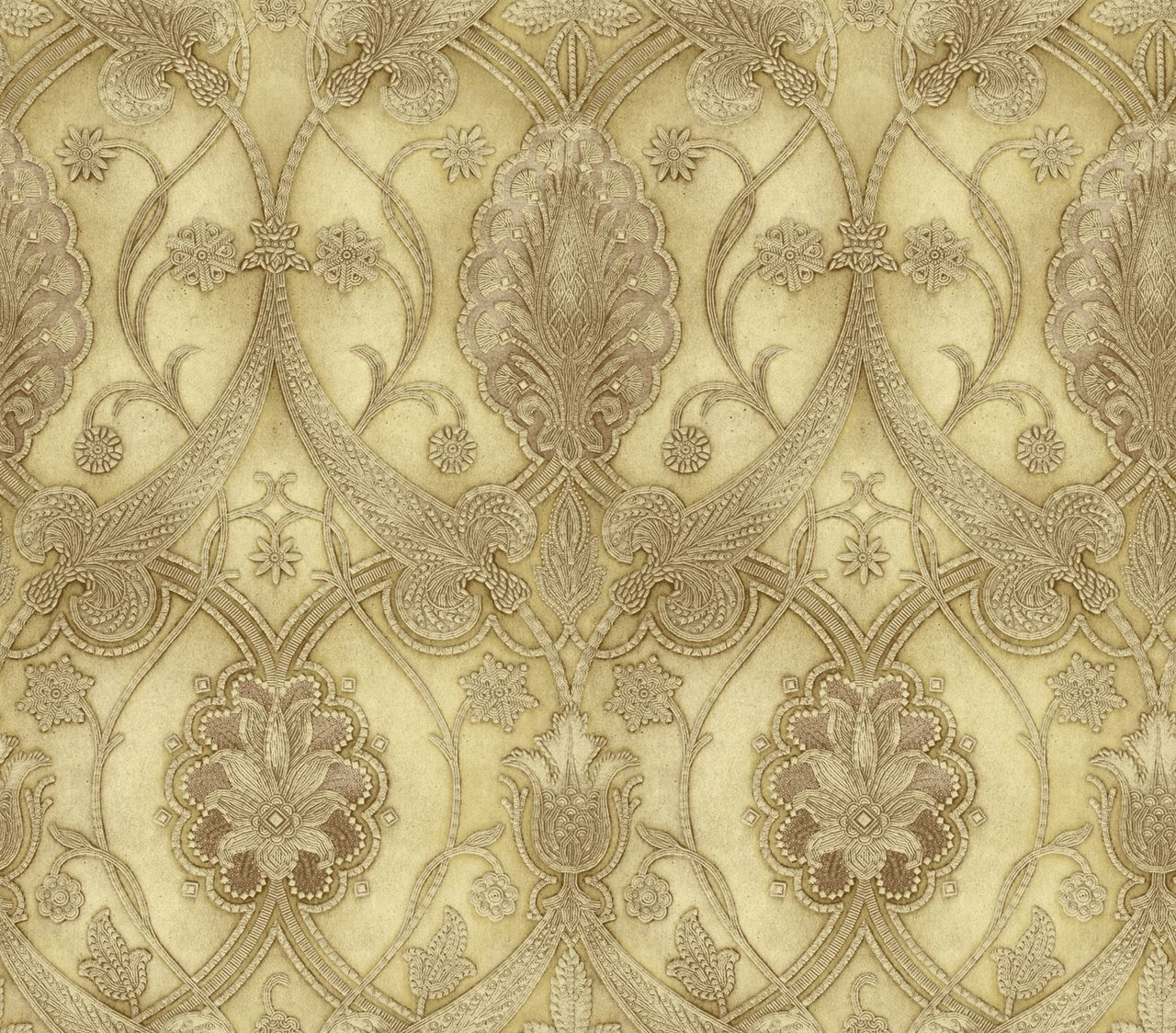 Art and Texture Vol II Elisabetta Damask Honey Wallpaper ART25065 ...
