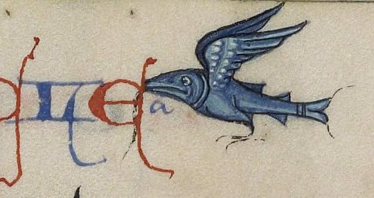 Penn Libraries Manuscripts — Winged fish, fol. 184v, Ms. Codex 724. This seems...