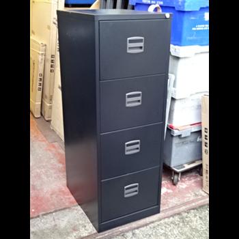 Triumph 4 Drawer Filing Cabinet Black