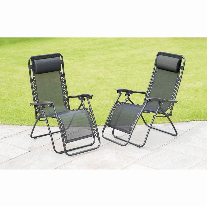Zero Gravity Relaxers 50 For 2 B M Hanging Egg Chair Grey Garden Furniture Sun Lounger