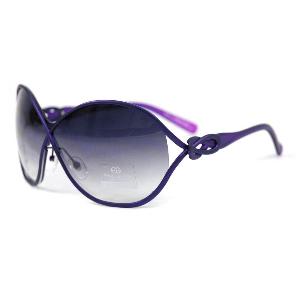 645b2b2ec6 Anais Gvani Women s Chic Open Temple Fashion Sunglasses -Purple ...