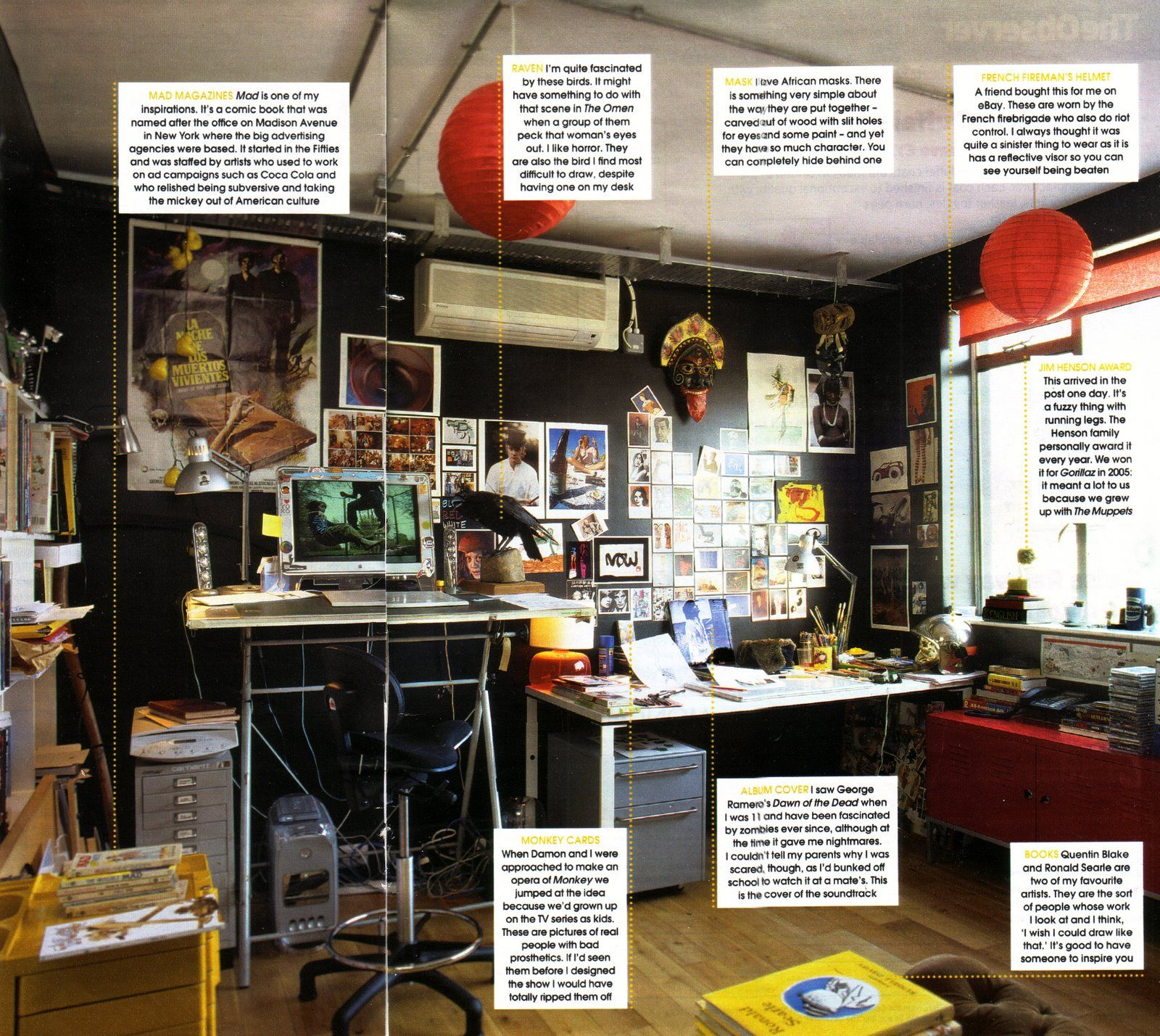 Jamie Hewlett Studio | J A M I E H E W L E T T | Pinterest