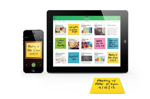 Evernote Gives Iconic Postit® Notes a Digital Life