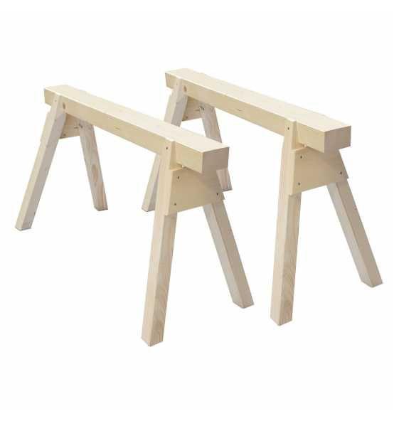 1 paar holzb cke 2er set 120 cm bei online kaufen esszimmertisch bauen pinterest. Black Bedroom Furniture Sets. Home Design Ideas