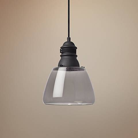 Tech lighting stratton 11 wide smoke mini pendant