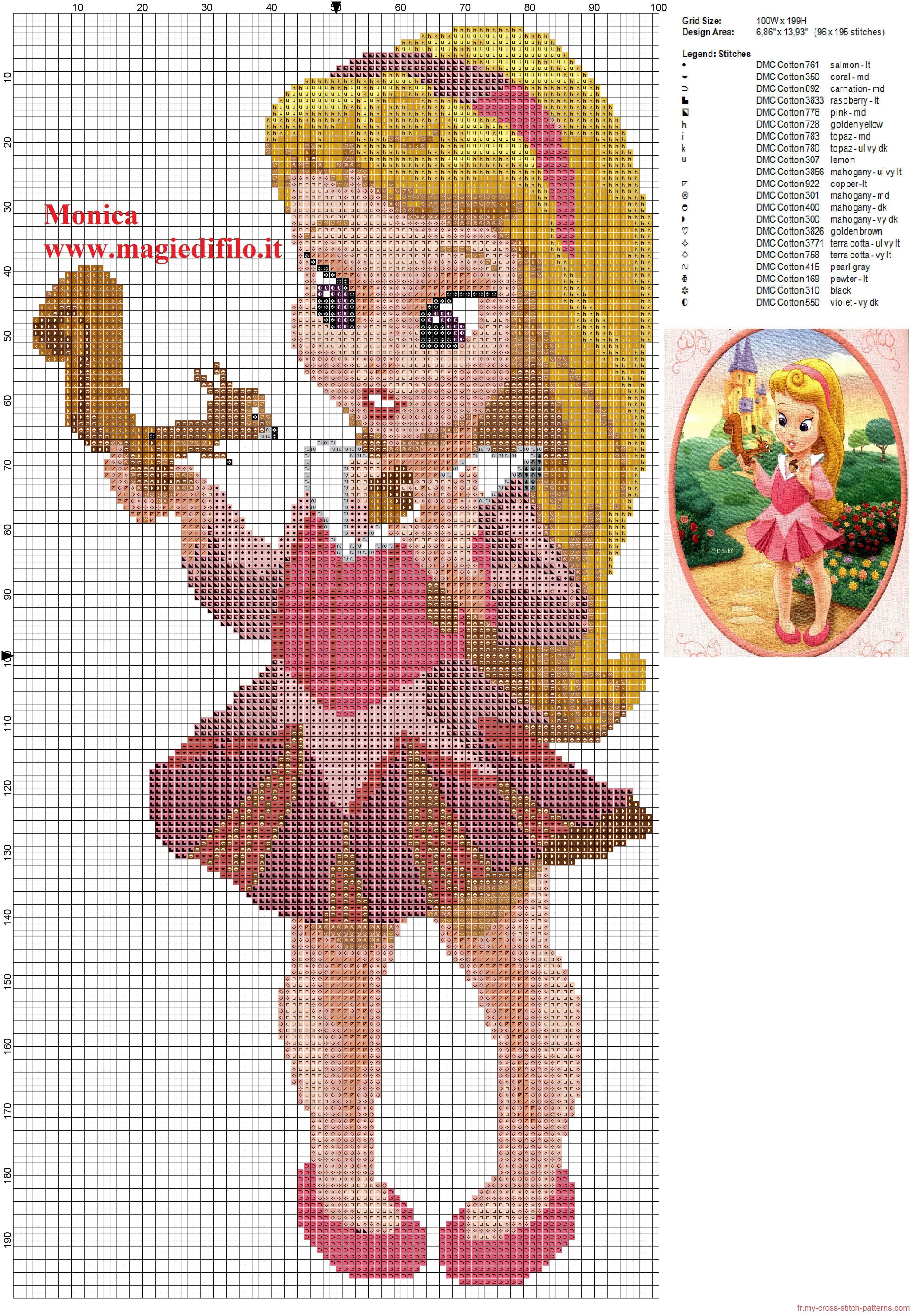Petite princesse aurore grille point de croix 2976x4280 5683171 cross stitch cr ations - Petite princesse disney ...