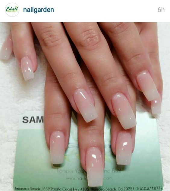 Long natural french nail --- my absolute favorite set | Acrylic Nail ...