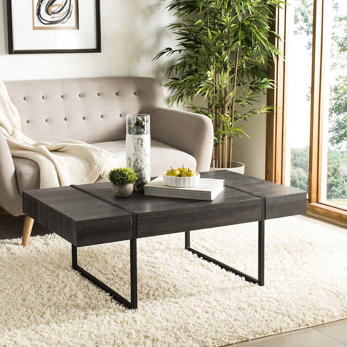 Safavieh Tristan Rectangle Modern Coffee Table Kohls In 2021 Coffee Table Rectangle Coffee Table Wood Table Decor Living Room [ 1125 x 1125 Pixel ]