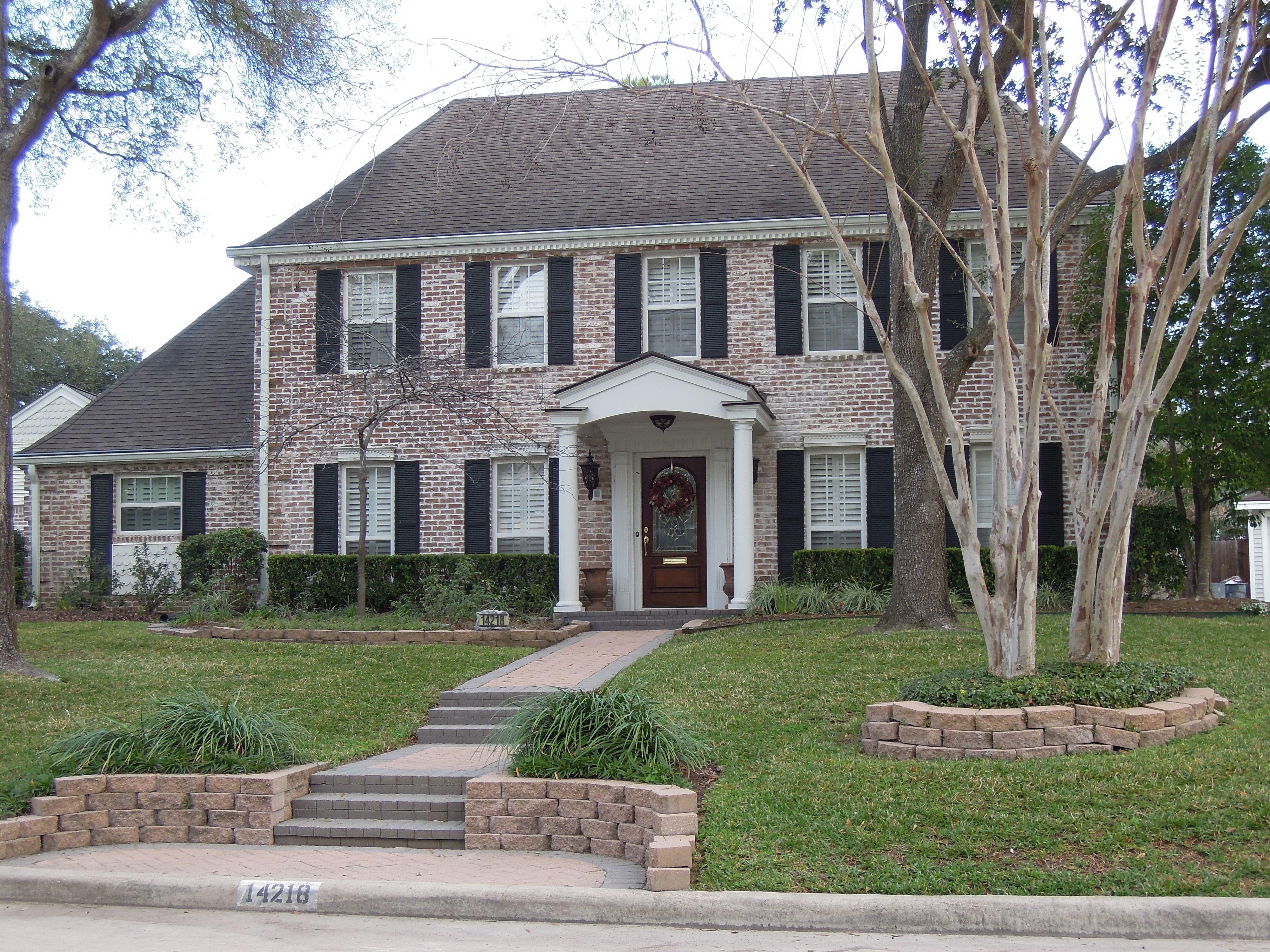 Colonial Exterior Colonial Exterior Whitewash Brick House