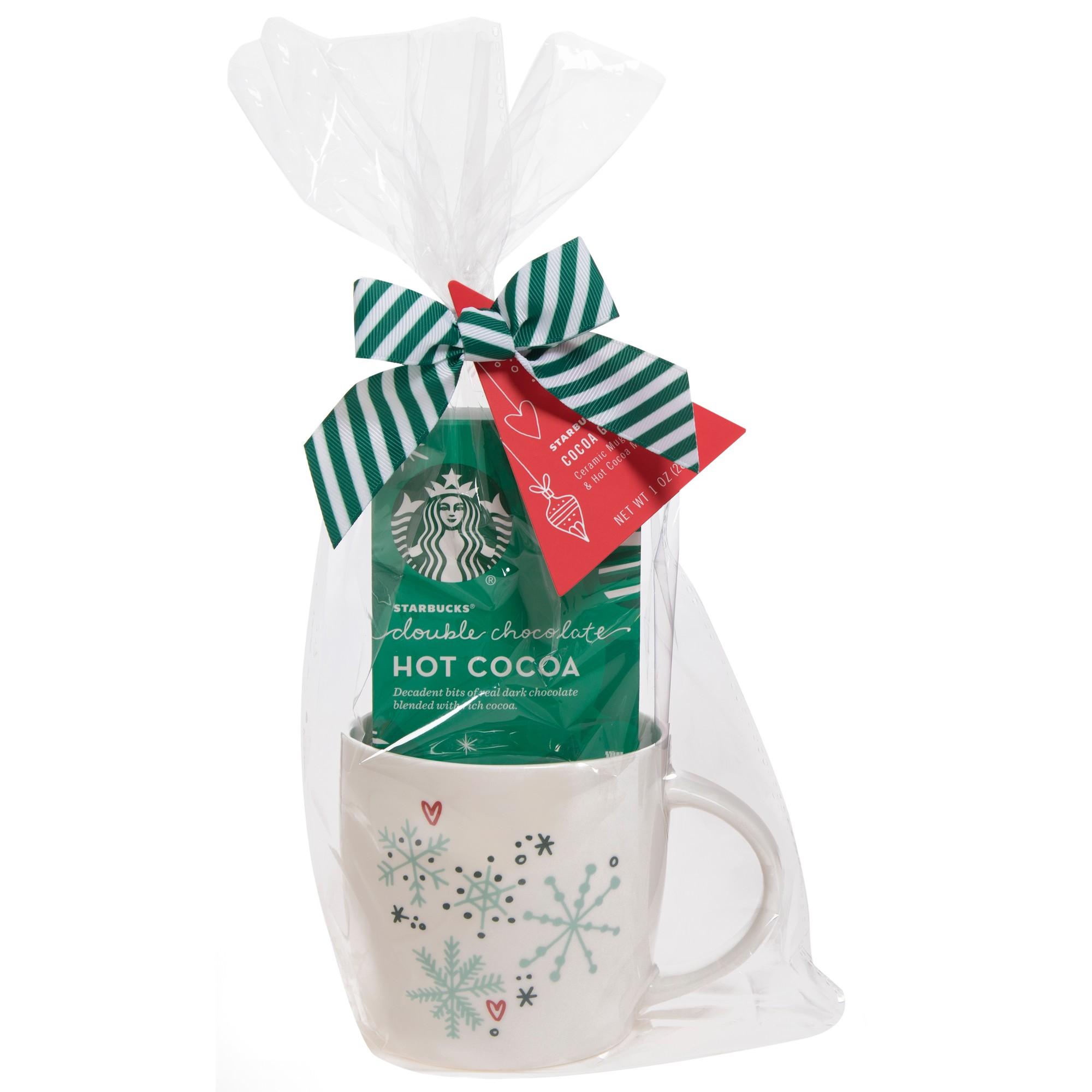 Starbucks Double Chocolate Hot Cocoa And Mug Gift Set 1oz