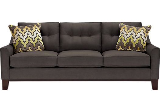 Picture Of Cindy Crawford Home Montclair Slate Sofa From Sofas Furniture Slate Sofa Cindy Crawford Home Sofa Styling