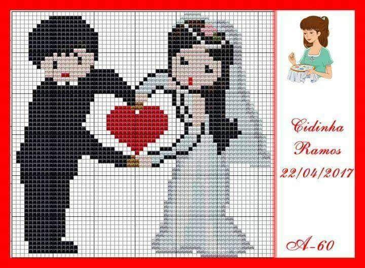 Pin de Lebibe Aytekin en Cs wedding | Pinterest | Punto de cruz ...
