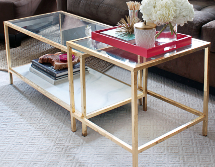 Pin By Amanda Beazley On Styled Shoot Inspiration Pinterest Tables - Glass coffee table with gold trim
