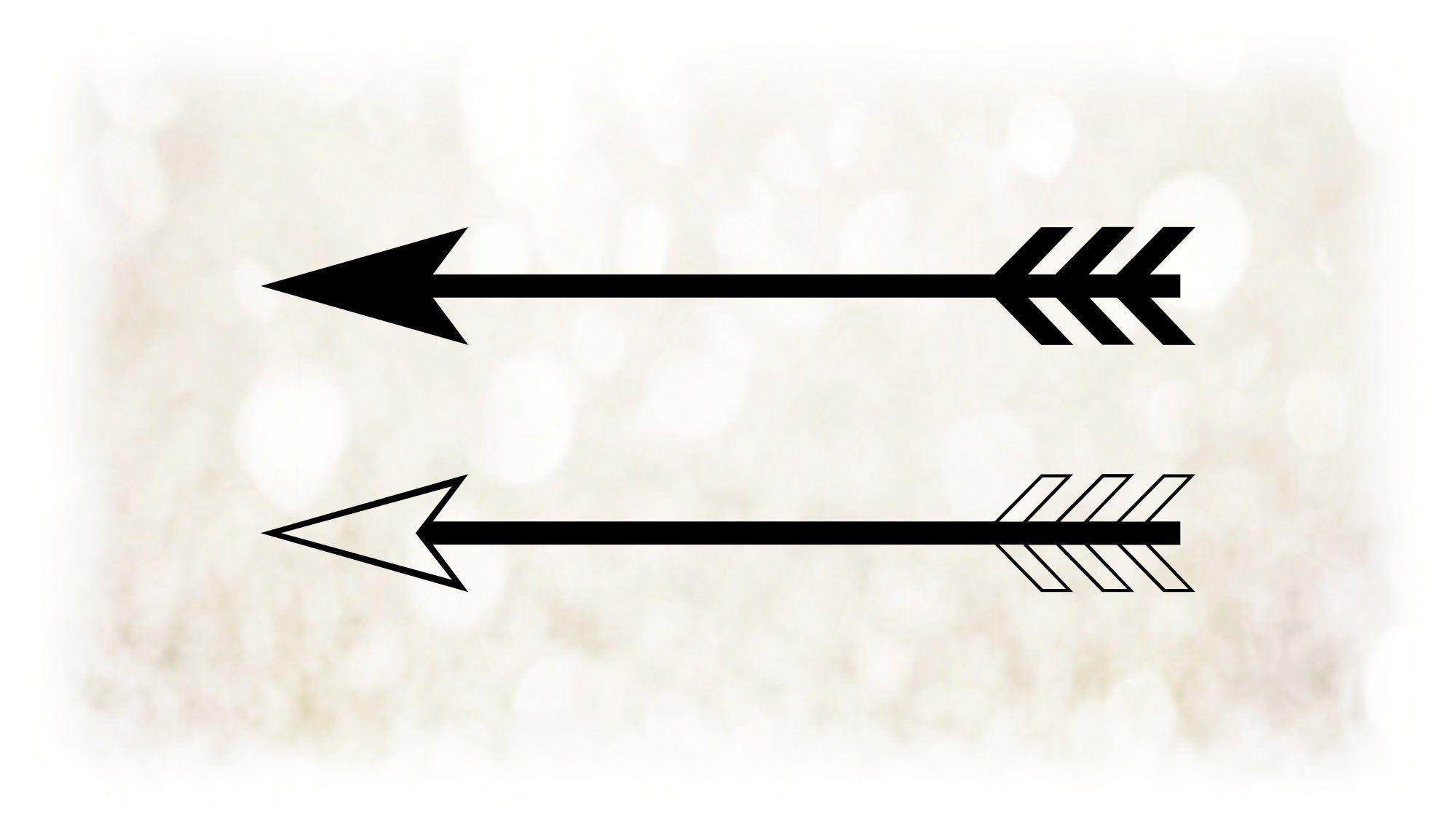 Shape Clipart Large Black White Easy Basic Long Arrows Etsy Clip Art Black And White Large Black