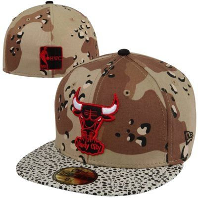 43d8db100ee New Era Chicago Bulls Camo Hooked Hardwood Classics 59FIFTY Fitted Hat -  Camo