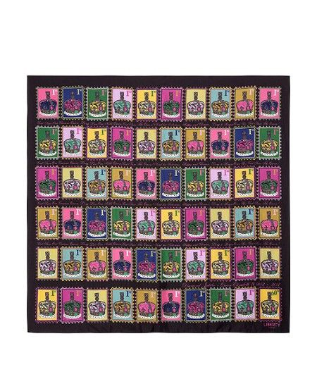 Queen's Diamond Jubilee: Top 20 fashion pieces Liberty's limited edition Jubilee scarf is inspired by the classic British 'First Class' stamp, Andy Warhol screen print paintings and the British crown jewels