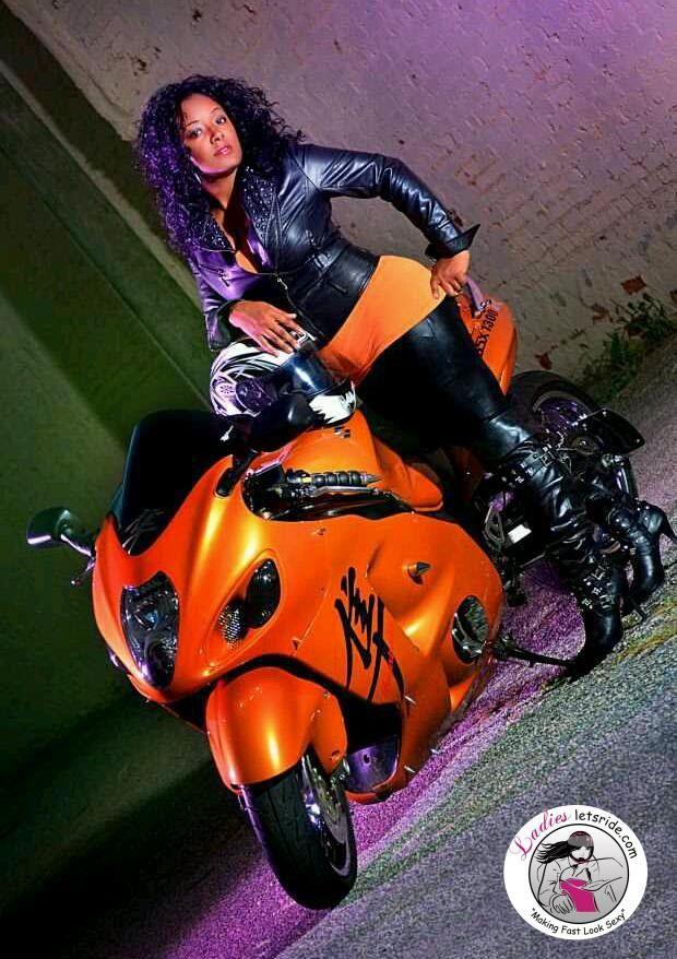 Brandy Harrison (Brandy Wine), Suzuki Hayabusa rider with Fearless Divaz MC, Spartanburg SC.