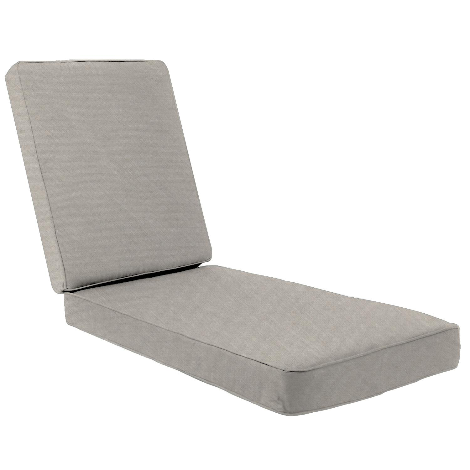 Sunbrella Cast Ash Long Outdoor Replacement Chaise Lounge