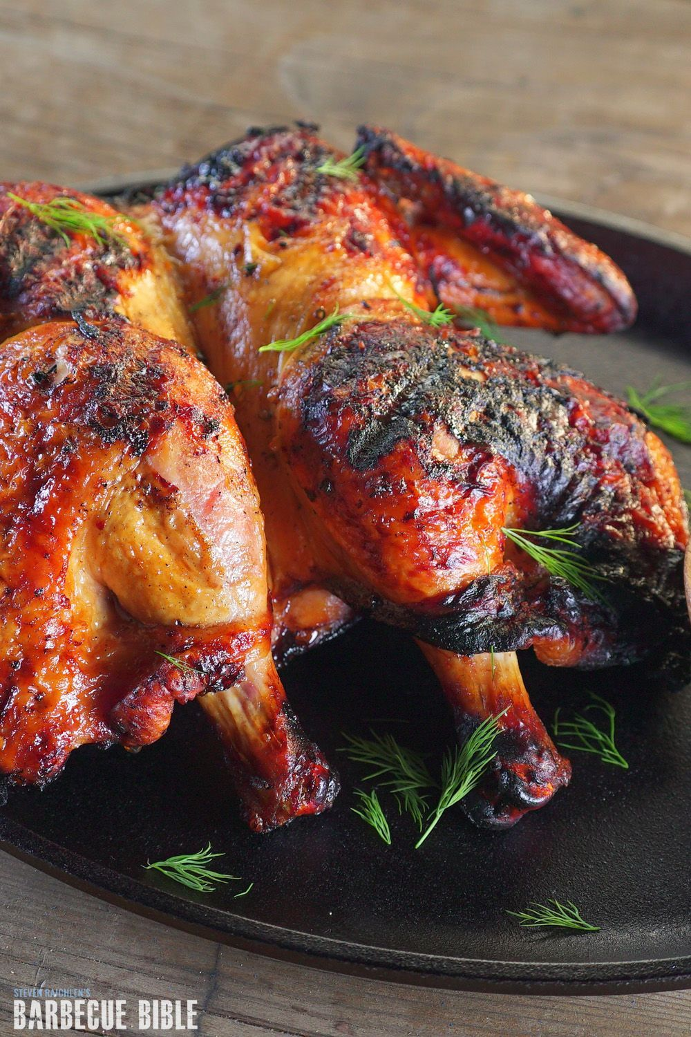 Salt Slab Grilled Georgian Tabaka Chicken Recipe Barbecuebible Com In 2020 Chicken Recipes Recipes Grilling Recipes