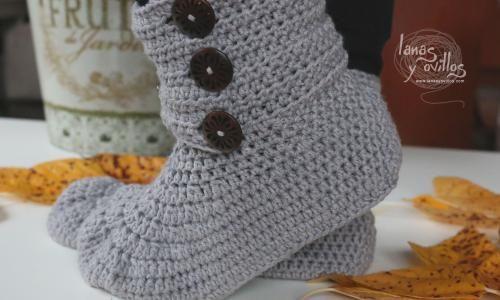 BOTAS ADULTO PASO A PASO CON VÍDEO TUTORIAL | Patrones Crochet ...