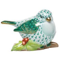 Herend Little Bird On Holly Green Fishnet