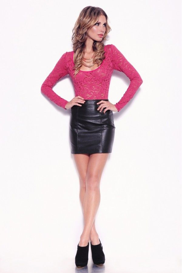 Lederlady ❤ | Leather Skirts | Pinterest | Leather skirts, Pink ...
