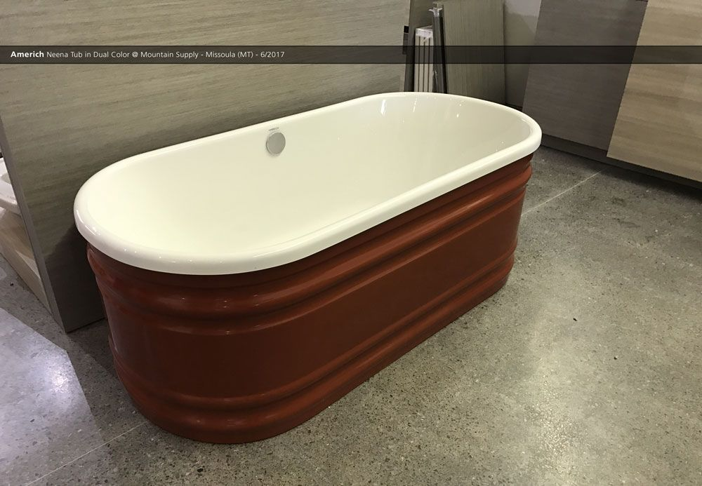 Americh Neena Tub In Dual Color Mountain Supply Missoula Mt