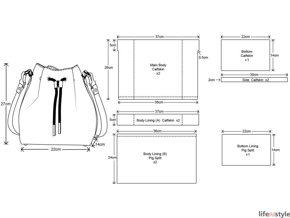 Patrones bolsos | Fichas técnicas y Geometrales | Pinterest