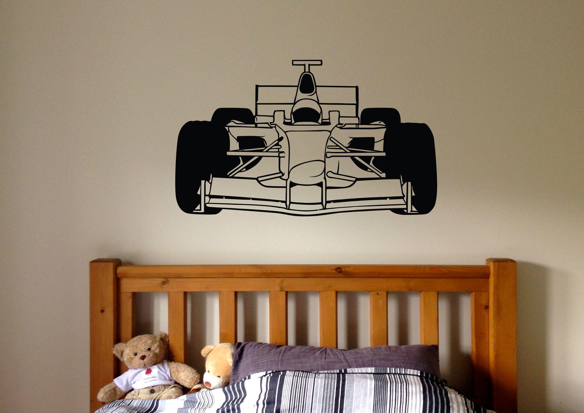 Formula 1 Racing Car Wall Art Decal Style 2 Jongens Slaapkamers Jongens Slaapkamer [ 1448 x 2048 Pixel ]