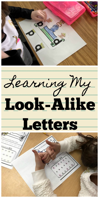 Learning My Look Alike Letters Letter Reversal Practice