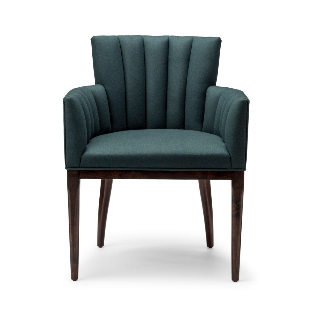 Efflorescent Seating On A Hand Carved Solid Wood Frame Our Oxalis Chair Emanates Natural Charm With Channeled And Hand Sprung Upholstery Either Traditional Dining Chairs Furniture Dining Chairs