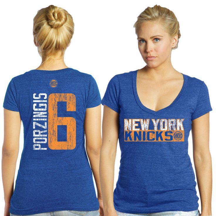 Kristaps Porzingis New York Knicks Majestic Threads Women