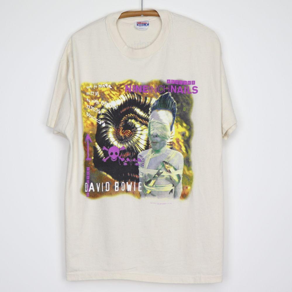 Vintage Nine Inch Nails David Bowie 1995 Tour Shirt Tour Shirt Shirts Vintage Shirts