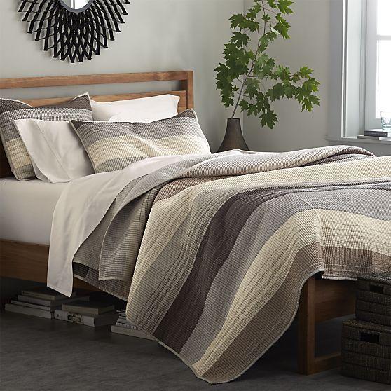 Sedona Grey Quilts And Pillow Shams