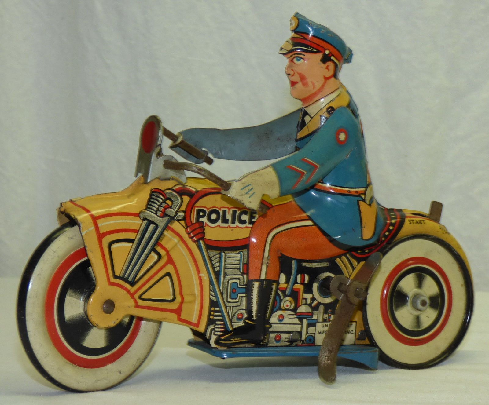 Rare Antique 1933 Unique Art Daredevil Motor Cop Windup ...